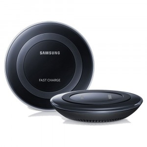 Chargeur Noir Original Samsung Wireless Charge Rapide Pad S6