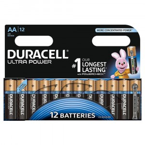 12 PILE BATTERIE DURACELL ULTRA POWER CON POWERCHECK AA STILO DURALOCK