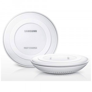 Chargeur Blanc Original Samsung Wireless Fast Charge Pad S6