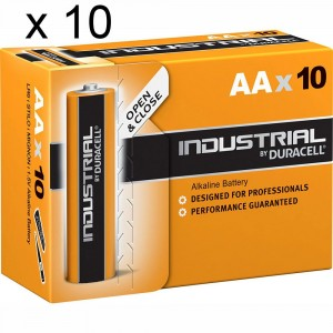 100 Batterie Duracell Industrial Stilo AA LR6 1.5V Pile Alcaline Procell