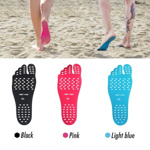 ADHESIVE INSOLES NAKEFIT SUMMER SEA SAND POOL LAWN GRASS FEET PROTECTION