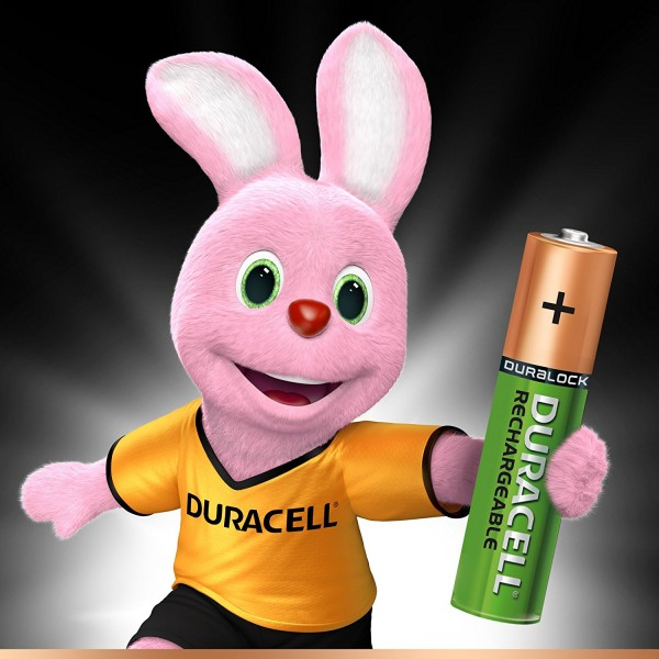 4 PILES BATTERIES RECHARGEABLES AAA DURACELL 900 mAh PRECHARGE PRECHARGED