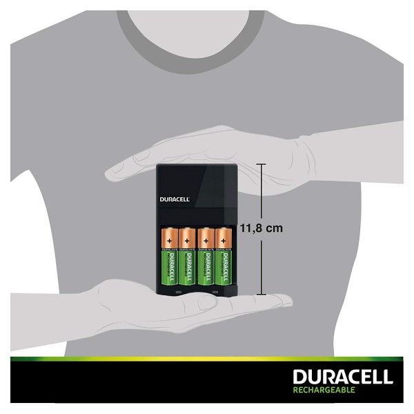 Duracell Charger CEF14 + 2 batteries AA 1300mAh + 2 batteries AAA 750mAh