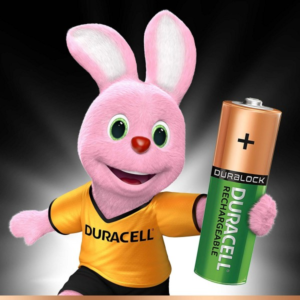4 PILES BATTERIES DURACELL RECHARGE ULTRA RECHARGEABLES AA NIMH 2500 mAh
