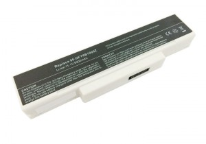 Battery 5200mAh WHITE for MSI GX620 GX620 MS-1651
