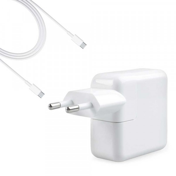 """Alimentatore Caricabatteria USB-C A1718 61W per Macbook Pro 13"""" A1706 2016"""