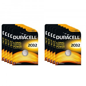 10 COIN BUTTON BATTERIES DURACELL 2032 CR2032 3V LITHIUM BATTERY LONG LIFE