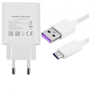 Original Charger SuperCharge + Type C cable for Huawei P20 Lite