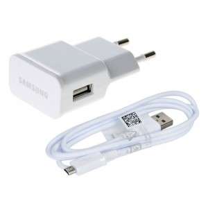 Caricabatteria Originale 5V 2A + cavo per Samsung Galaxy Core Duos GT-i8262