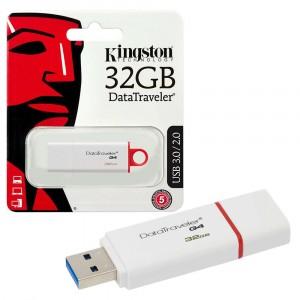 Kingston DTIG4/32GB DataTraveler G4 USB 3.1 3.0 2.0 Pendrive 32GB White Red