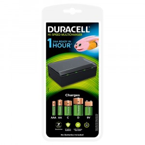 Caricabatterie Pile Ricaricabili Duracell CEF22 Universale AAA AA C D 9V