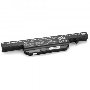 Battery 5200mAh W650BAT-6 for Clevo W655 W655R W655RC W655RC1