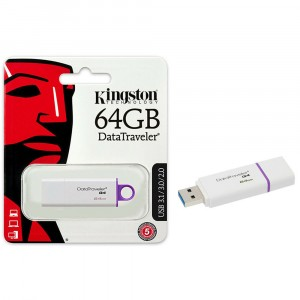 KINGSTON DTIG4/64GB DATATRAVELER G4 USB FLASH DRIVE 64 GB 64GB