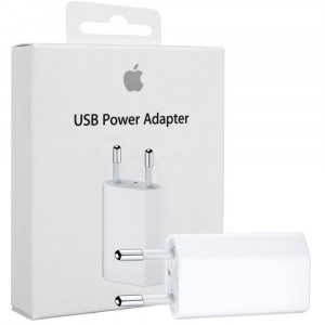 Alimentatore USB 5W Apple Originale A1400 MD813ZM/A per iPhone 5s A1518