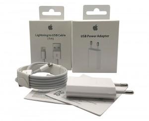 Caricabatteria Originale 5W USB + Cavo Lightning USB 1m per iPhone 5 A1442