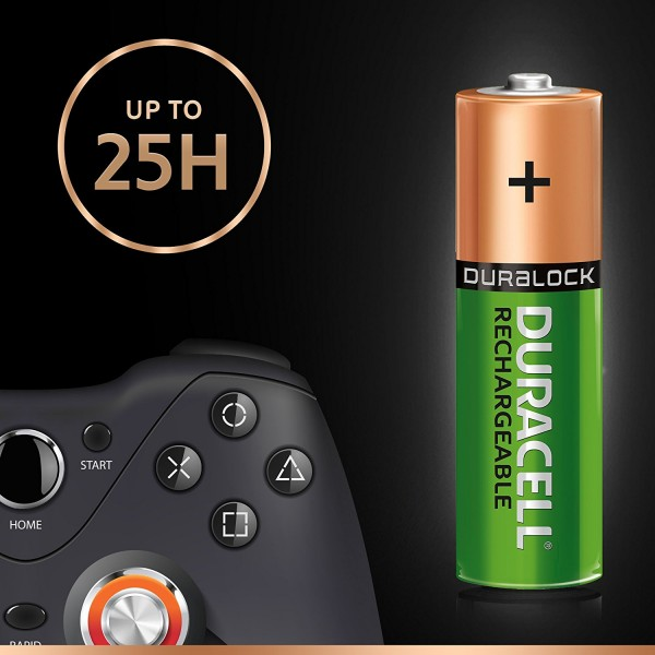 4 BATTERIES DURACELL RECHARGE ULTRA RECHARGEABLE AA MIGNON NIMH 2500 mAh