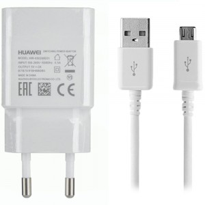 Caricabatteria Originale 5V 2A + cavo Micro USB per Huawei Y5II