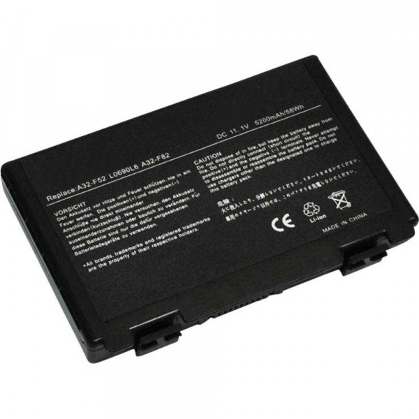 Batería 5200mAh para ASUS K50IJ-C900SCEFWW K50IJ-C900SCELWW5200mAh