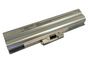 Batteria 5200mAh ARGENTO per SONY VAIO VGN-NW13GH-T VGN-NW160J-S VGN-NW180J-S