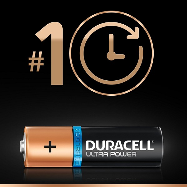 16 BATTERIES DURACELL ULTRA POWER WITH POWERCHECK AAA 1.5V ALKALINE