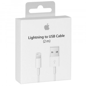 Câble Lightning USB 2m Apple Original A1510 MD819ZM/A pour iPhone 5 A1428