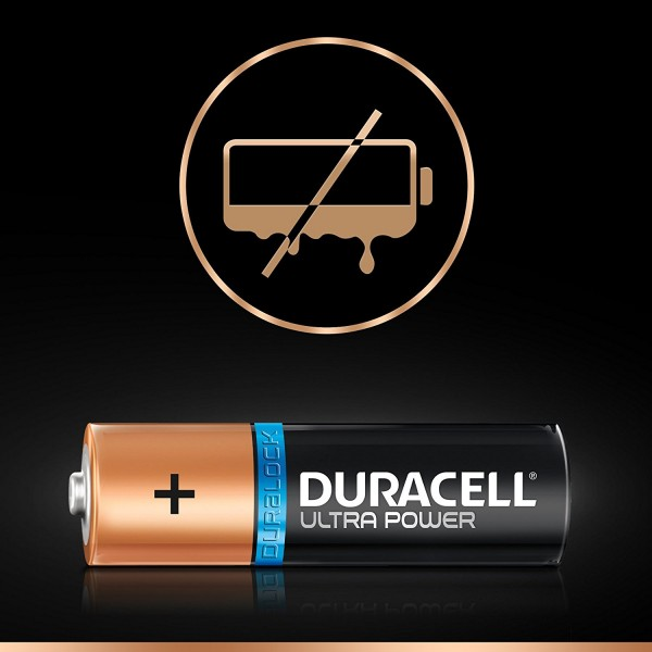 4 PILE BATTERIE DURACELL ULTRA POWER CON POWERCHECK AAA LR03 MX2400