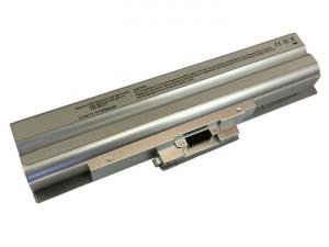 Batteria 5200mAh ARGENTO per SONY VAIO VGN-SR28-B VGN-SR28-J VGN-SR28-Q