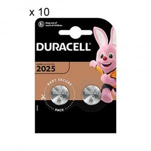 20 Batterie Duracell 2025 A Bottone Specialistiche 3V Lithium Litio DL/CR 2025