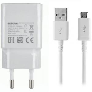 Caricabatteria Originale 5V 2A + cavo Micro USB per Huawei Y6 Pro