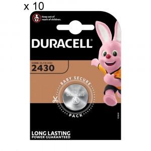 10 Batterie Duracell 2430 Pile A Bottone 3V Lithium Litio DL2430 CR2430