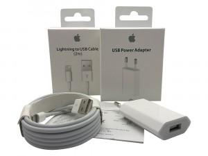 Adaptador Original 5W USB + Lightning USB Cable 2m para iPhone iPad iPod