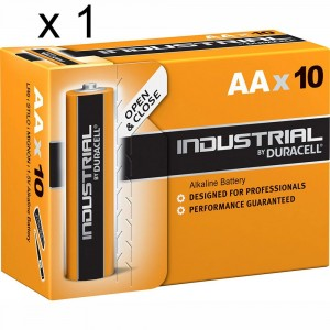 1 PACK 10 BATTERIES DURACELL INDUSTRIAL AA LR6 1.5V ALKALINE BATTERY PROCELL