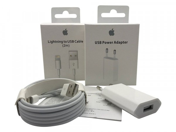 outlet store 51ac5 674e3 Original 5W USB Power Adapter + Lightning USB Cable 2m for iPhone 6s Plus  A1690