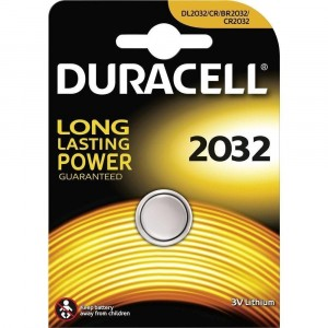 1 COIN BUTTON BATTERY DURACELL 2032 CR2032 LITHIUM BATTERY CLOCK ALARM SCALE