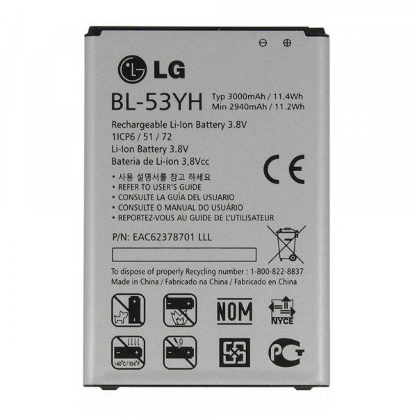 Original Battery BL-53YH 3000mAh for LG G3