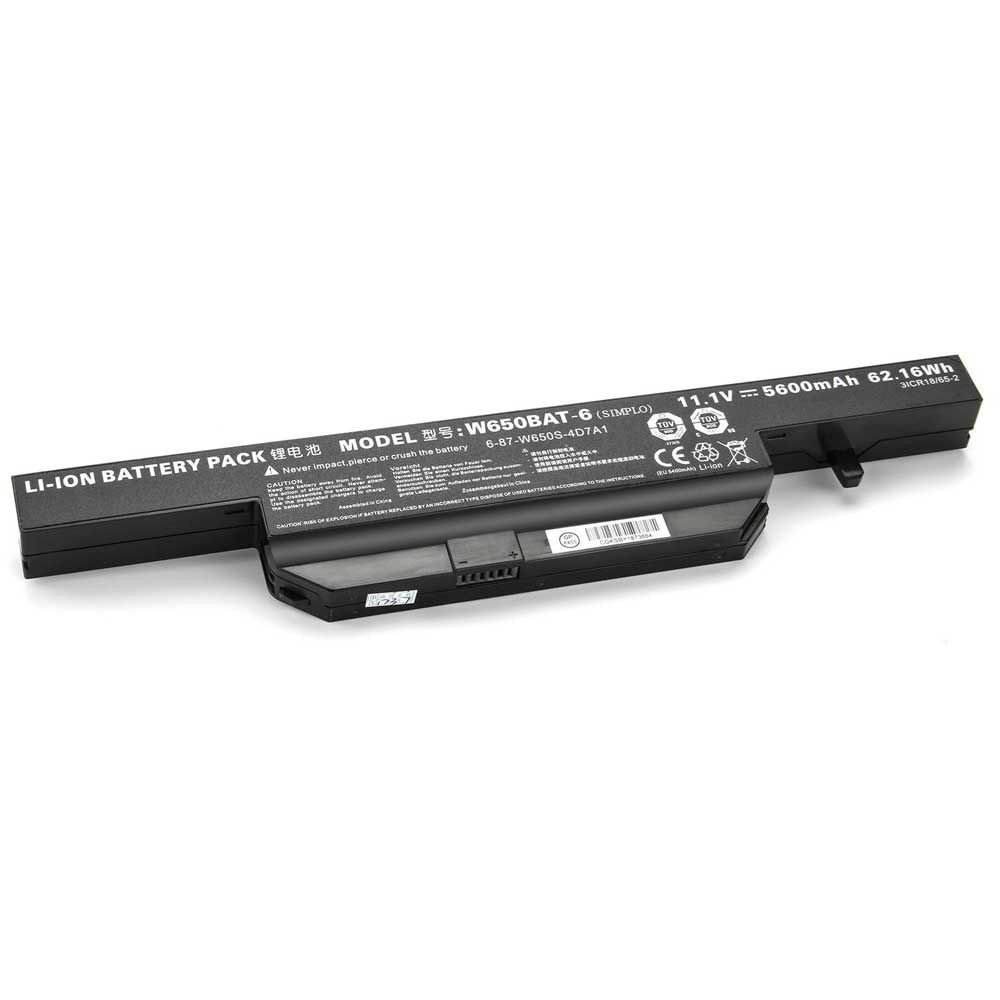 Batería 5200mAh W650BAT-6 para Clevo W670SZ W670SZQ W670SZQ1