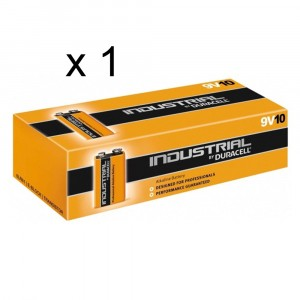 1 PACCO 10 BATTERIE DURACELL INDUSTRIAL E-BLOCK TRANSISTOR 9V PILE ALCALINE