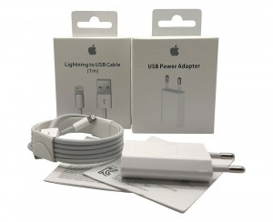 Adaptador Original 5W USB + Lightning USB Cable 1m para iPhone 5